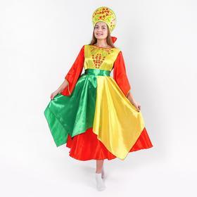 """Карнавальный костюм""""Лето""""платье,кокошник,р-р42-44"""