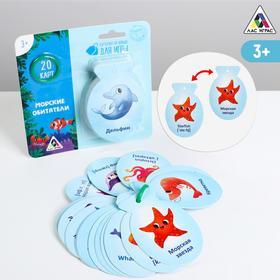 Карточки на кольце для изучения английского языка «Морские обитатели», 3+