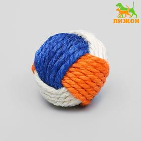 Sisal bound ball, 6 cm, mix of colors