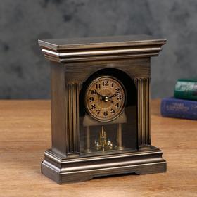 Table clock with pendulum, discrete stroke, 3 AAA, rotating mechanism, mix