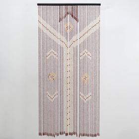 Занавеска дерево (52 нитей) 2 ряда, 1 ряд 50 нитей, 2 ряд 16 нитей, 90×175 см