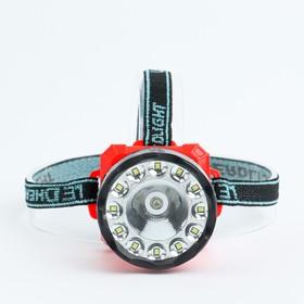 Headlamp 3 W, 1+12 led, 3 AA, 2 modes, 7. 2x9x8 cm