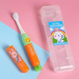 Электрическая зубная щётка «На страже чистоты и милоты», 19,2 х 5,5 см