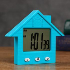 "Часы  электронные ""Домик"" 8.3х1.5х7.3 см , микс"