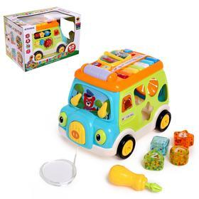 """Развивающая игрушка """"Автобус-сортер"""", световые и звуковые эффекты"""
