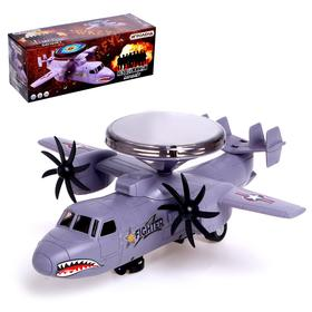 "Airplane ""Unstoppable"", powered by batteries, light and sound effects"