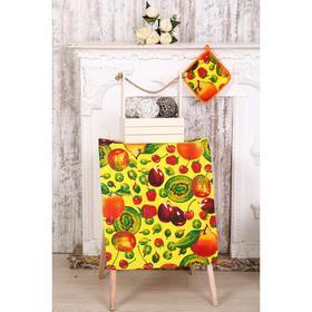 Набор кухонный «Фрукты» полотенце 45х60 + прихватка 20х20 см