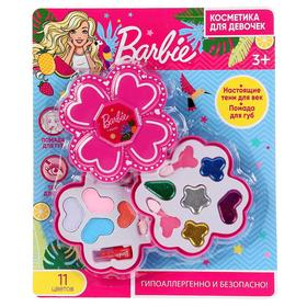 Косметика для девочек «Барби», тени, помада