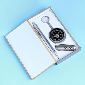 3in1 gift set (pen, 5 in 1 knife, compass)