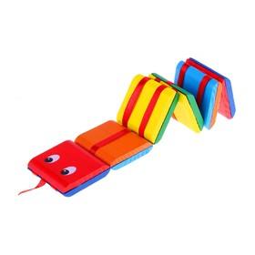 Головоломка «Змейка» с переворачивающимися цветными квадратами