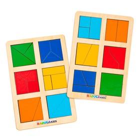 Логическая игра «Сложи квадрат» Б.П. Никитин, уровень 1
