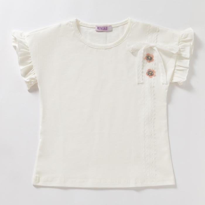 Футболка для девочки «Кружевок», цвет белый, рост 86 см - фото 76735521