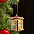 "Toy for Christmas tree ""Flashlight"", illuminated, 7x5, 5x6, 2 cm"