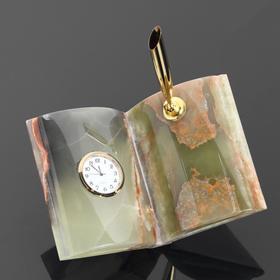 """Часы """"Книга"""", оникс"""