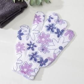 Мочалка-перчатка массажная, цвет МИКС