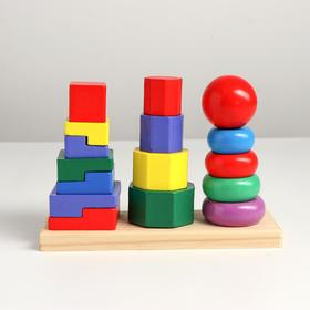"Набор развивающих пирамидок ""Трио"" 19,8х6,4х13,6, в пакете"