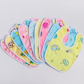 Baby bib waterproof, color and pattern MIX
