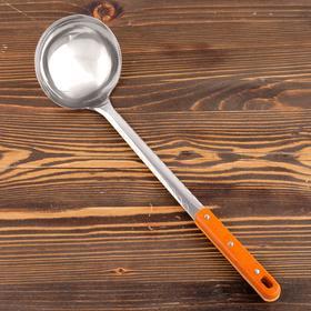 Поварешка для казана узбекская 42см, диаметр 12см с деревянной ручкой
