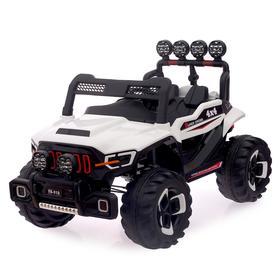"""Электромобиль """"Монстр"""", полный привод 4WD, 2-х местный, цвет белый"""