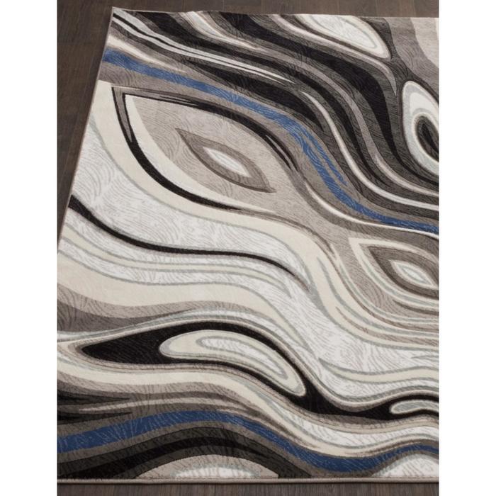 Ковёр прямоугольный Mega carving 1385, размер 100x200 см, цвет gray - фото 7929449