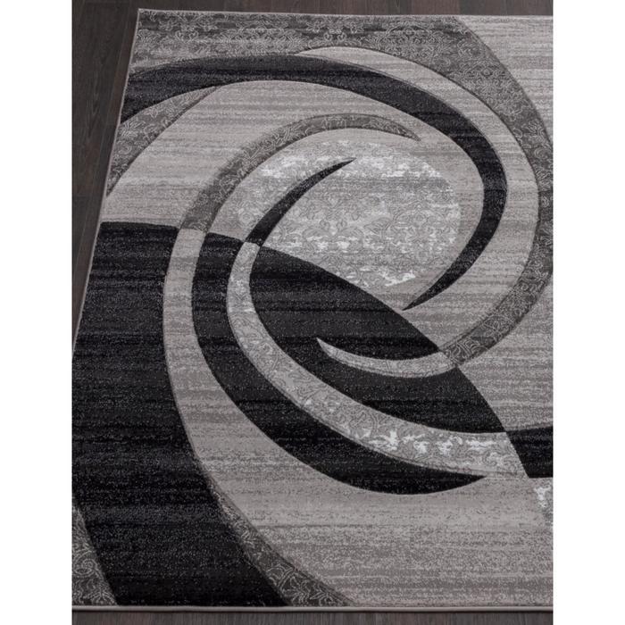 Ковёр прямоугольный Mega carving d264, размер 80x150 см, цвет gray - фото 7929453