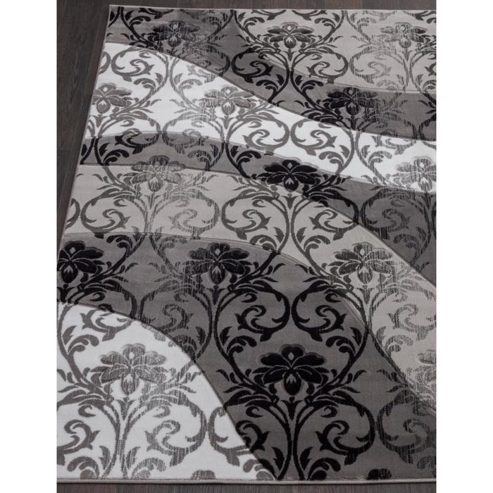 Ковёр прямоугольный Mega carving d268, размер 80x150 см, цвет gray - фото 7929454