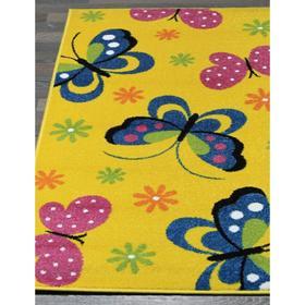 Прямоугольный ковёр Crystal 0772, 120x180 см, цвет yellow
