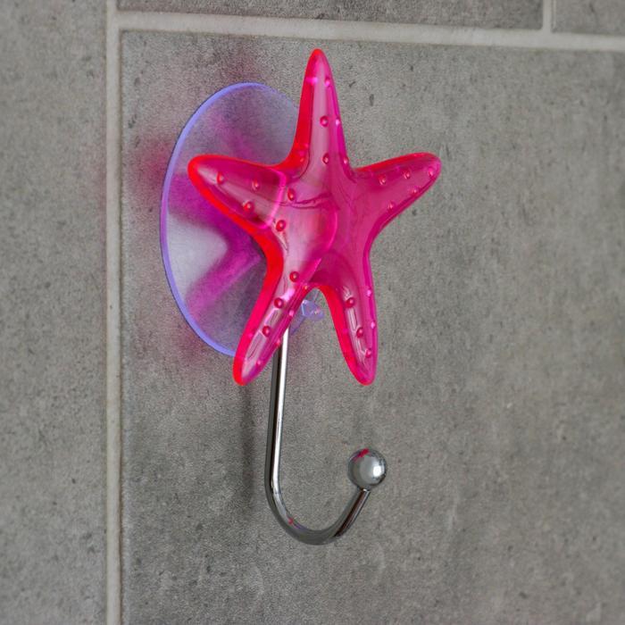 Крючок на вакуумной присоске «Звезда», цвет МИКС