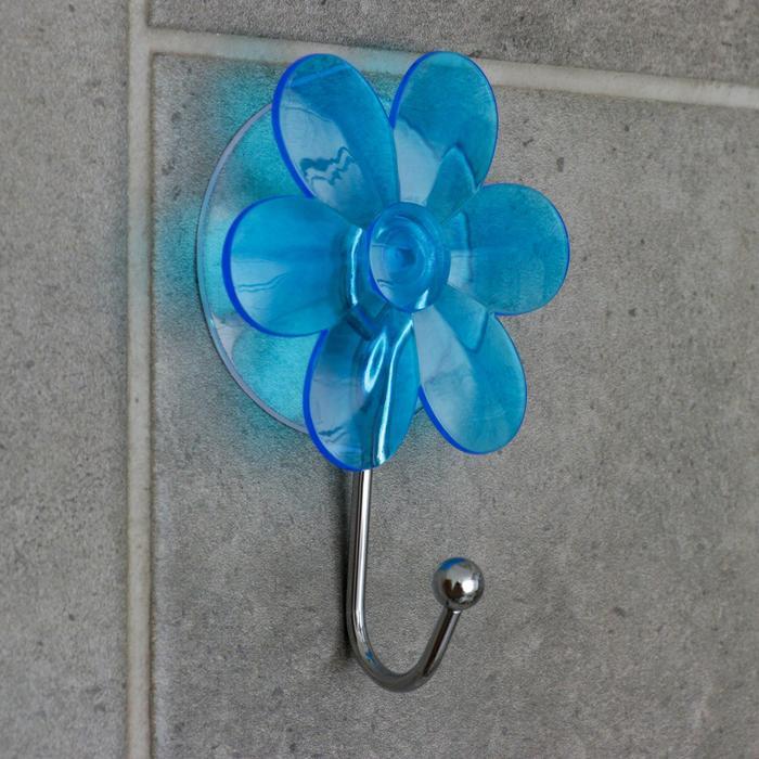 Крючок на вакуумной присоске «Ромашка», цвет МИКС