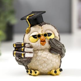 "Souvenir polystone ""owl-Professor"" 9, 8x6, 5x9 cm"