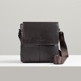 Bag husband L-1107-1, 19*4*21, zippered otd, n / a pocket, brown