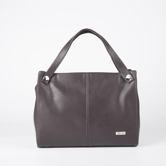 Сумка женская, отдел на молнии, наружный карман, длинный ремень, цвет коричневый - фото 763737