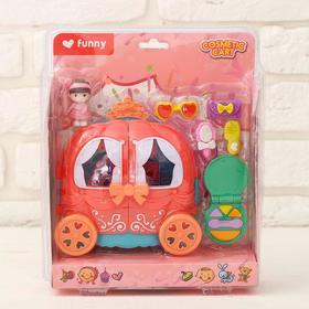 Пластиковый домик для кукол «Карета» с аксессуарами, МИКС