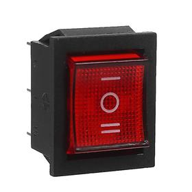 Button-switch, three-position, with illumination 250 W, 15 A