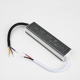 Блок питания для светодиодной ленты Ecola, 20 Вт, 220-12 В, IP67 Ош