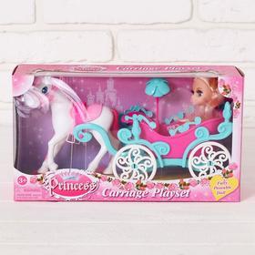 Карета с лошадкой и куклой