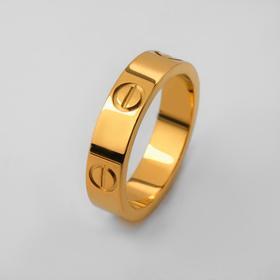 "Кольцо ""Гайки"", цвет золото, размер 18"