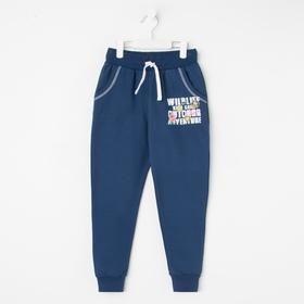 Брюки для девочки, цвет синий, рост 98-104 см