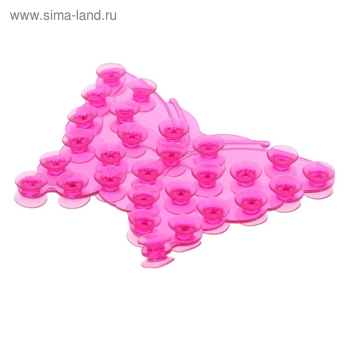 "Мини-коврик для ванны ""Бабочка"", цвет МИКС"