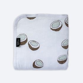 Муслиновое утеплённое одеяло «Кокосы», размер 100x75 см