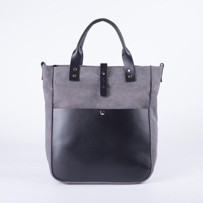 Сумка женская, отдел на молнии, наружный карман, длинный ремень, цвет серый - фото 764037