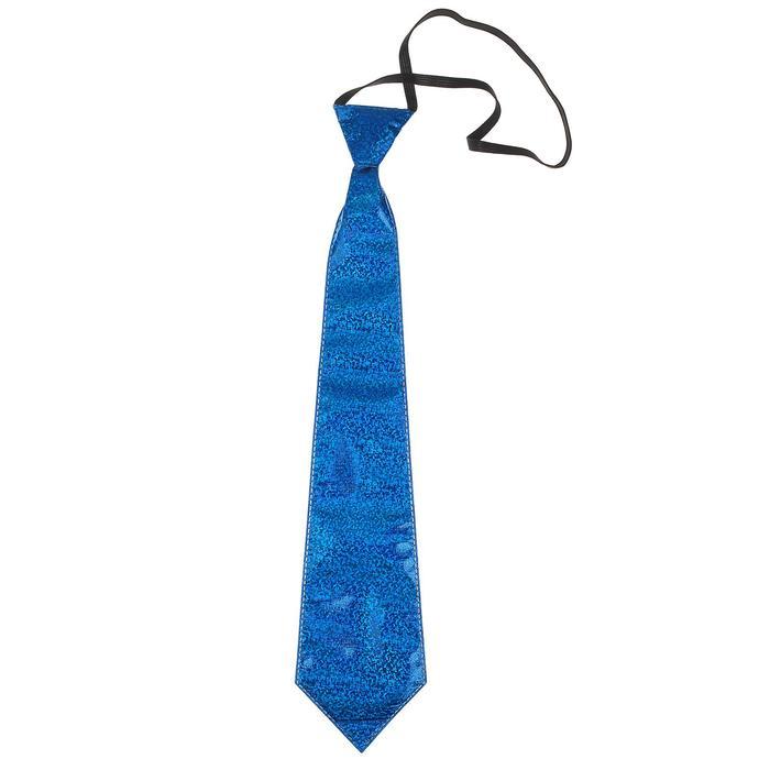Карнавальный галстук «Блеск», на резинке, цвета МИКС - фото 2052900
