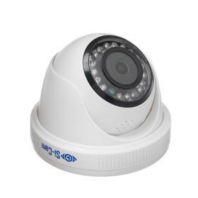 Видеокамера уличная 204FМ, IP, 2 Мп, 1080Р, f=2.8 мм, mic, SD слот, динамик, белая