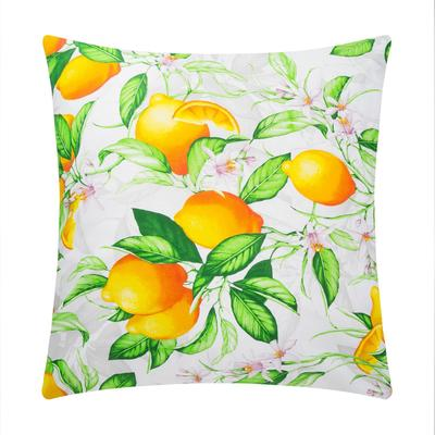 "Pillow case 70*70 Ethel ""Lemon morning"", calico, 125 gr / m2, 100% cotton"