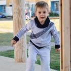 Свитшот для мальчика, цвет серый меланж, рост 134 см - фото 2054143