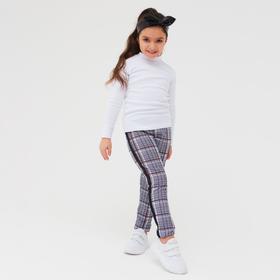 Брюки для девочки, цвет тёмно-синий, рост 116 см