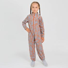 Комбинезон для девочки, цвет серый, рост 104 см