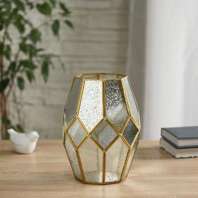 """Florarium """"Rhombi"""" d-10cm 16x23 cm, gold"""