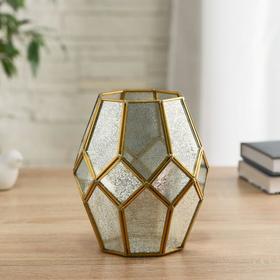 """Florarium """"Rhombi"""" d-9cm 15x17 cm, gold"""