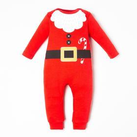 """Комбинезон Крошка Я """"Санта"""", рост 86-92 см, красный"""
